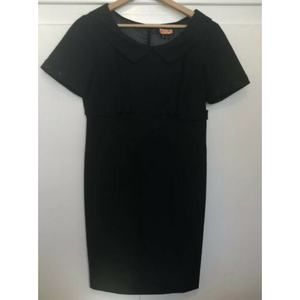 Tahari Black Short Sleeve Dress Sz 8P Sheath Dress